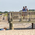 The main entrance to the Atlantic side beach.- Cape Henlopen State Park