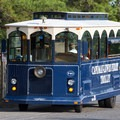 A trolley that takes you into the town of Lewes.- Cape Henlopen State Park