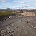 A view from the top looking down the trail.- Hverfjall