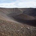 A look in at the crater at Hverfjall.- Hverfjall