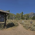 The trailhead and the large meadow beyond.- Granite Canyon