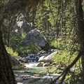 A small waterfall right next to the site.- Granite Canyon