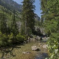 Another small waterfall near a large set of backcountry campsites.- Granite Canyon