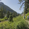 The canyon begins to open up as you ascend.- Granite Canyon
