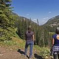 Looking out over idyllic forest vistas in Granite Canyon.- Granite Canyon