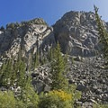 Granite walls loom over the canyon floor.- Granite Canyon