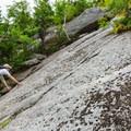 Steep slab on the Holt Trail.- Mount Cardigan via the Holt Trail Loop