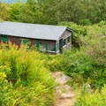 Old cabin along the white trail.- Pitcher Mountain Fire Tower