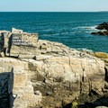 The rocky ledge just north of the light, where the ship, the Annie C. Maguire, struck on Christmas Eve 1886.- Portland Head Lighthouse