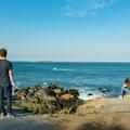 Looking east at Ram Island and the Ram Island Ledge Light.- Portland Head Lighthouse