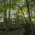 Ruins of the Goddard Mansion.- Portland Head Lighthouse