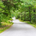 Auto road that leads to picnic areas and the trailhead.- Mount Kearsarge