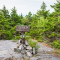 Junction with the Lincoln Trail just before the summit.- Mount Kearsarge
