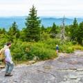 Exploring the summit. - Mount Kearsarge