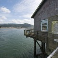 Pier's End Historic Coast Guard Boathouse (interior closed to the public).- Pier's End Historic Coast Guard Boathouse