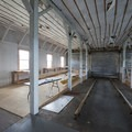 Interior of Pier's End Historic Coast Guard Boathouse.- Pier's End Historic Coast Guard Boathouse