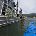 A commerical oyster boat at the Port of Garibaldi.- Tillamook Bay: Garibaldi Marina to The Three Graces