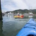Kayaking through Garibaldi Marina.- Tillamook Bay: Garibaldi Marina to The Three Graces