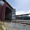 The Oregon Coast Scenic Railroad service building.- Oregon Coast Scenic Railroad