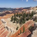Looking north from Sunset Overlook.- Cedar Breaks National Monument