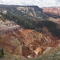 Looking southwest from the North Overlook.- Cedar Breaks National Monument
