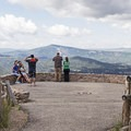 Spectators enjoying the panoramic vistas at the North Overlook.- North Overlook