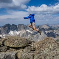 Wind River summits make you jump for joy.- East Temple Peak