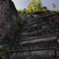 Iron rungs carry you upward. A great way to gain elevation quickly!- The Precipice Trail