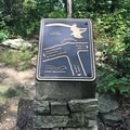 One of many helpful trail markers showcasing the possible trails.- Hawk Mountain