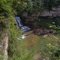 The overlook of the falls.- Cummins Falls State Park Waterfall