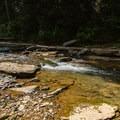 Small cascade on the Blackburn Fork River.- Cummins Falls State Park Waterfall