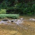 Small cascade on the Blackburn Fork River.- Cummins Falls State Park Hike