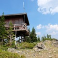 View of the fire lookout.- Cinnamon Mountain Lookout