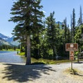 The North Shore Trailhead is right beside the campground.- Two Medicine Lake Loop Hike