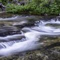 Cascades on Paradise Creek.- Two Medicine Lake Loop Hike