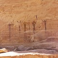 There are lots of different figures here.- Buckhorn Wash Rock Art