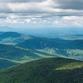 View from the Smarts Mountain fire tower.- Smarts Mountain