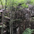 The walls that make up the Gorge.- Cadillac and Dorr Mountain via the Gorge Path