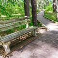 Bench along the trail.- Great Bay National Wildlife Refuge