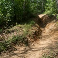 A rare rutted downhill section.- Jake and Bull Mountain Trail Network