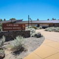 Parking and the beginning of the hike are at the visitor center.- Cave Loop