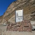 Signs describe the history of the area.- Petroglyph Point and Petroglyph Bluff Hike