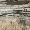 Petroglyphs here have suffered severe defacement.- Petroglyph Point and Petroglyph Bluff Hike