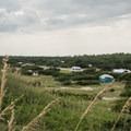 Looking down on the campground from the dunes.- Ocracoke Campground