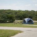 There are sites on grassy areas as well as sandy ones.- Ocracoke Campground