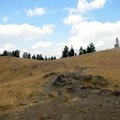 One of the short trails you can explore while visiting the bison range.- National Bison Range