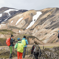The ryholite hills of Landmannalaugar.- Laugavegur Hiking Trail