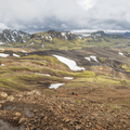 Looking over the edge of Jökultungur.- Laugavegur Hiking Trail