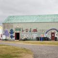The spacious Hlaðnis hall.- Hamrar Campground