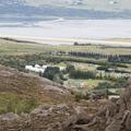 View of Hamrar from descending Súlur.- Hamrar Campground